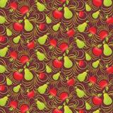 Nahtloser Hintergrund der Frucht Lizenzfreie Stockbilder