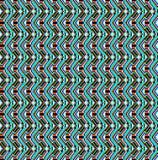 Nahtloser Hintergrund der geometrischen Verzierung mit blauen Wellen Lizenzfreies Stockbild