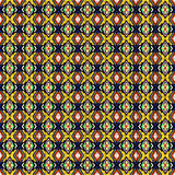 Nahtloser Hintergrund der geometrischen Verzierung mit Gelb streift a Lizenzfreies Stockbild