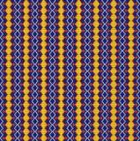 Nahtloser Hintergrund der geometrischen Verzierung mit gelben Diamanten Lizenzfreies Stockbild