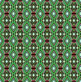 Nahtloser Hintergrund der geometrischen Verzierung mit Grün streift Stockbild