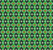 Nahtloser Hintergrund der geometrischen Verzierung mit grünen Achtecken Stockfotos