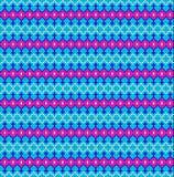 Nahtloser Hintergrund der geometrischen Verzierung mit rosa Streifen und Lizenzfreies Stockfoto