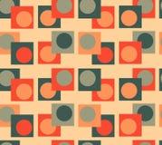 Nahtloser Hintergrund der grünen orange Geometrie lizenzfreie stockbilder