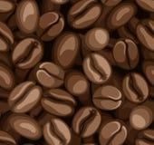 Nahtloser Hintergrund der Kaffeebohnen. lizenzfreie abbildung