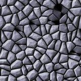 Nahtloser Hintergrund der Kopfsteinstein-Mosaikmuster-Beschaffenheit - graue silberne natürliche farbige Stücke der Pflasterung lizenzfreies stockbild