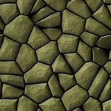 Nahtloser Hintergrund der Kopfsteinstein-Mosaikmuster-Beschaffenheit - Pflasterungsgoldnatürliche farbige Stücke lizenzfreie stockfotos