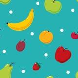 Nahtloser Hintergrund der netten Früchte Lizenzfreie Stockfotos