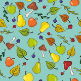 Nahtloser Hintergrund der netten Früchte Stock Abbildung
