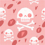 Nahtloser Hintergrund der Piratenschädelflaggenpartei-Karte Lizenzfreie Stockbilder