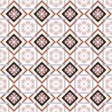 Nahtloser Hintergrund der quadratischen Kontrollkreuzrahmen-Blumengeometrie Stockfoto