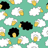 Nahtloser Hintergrund der Schafe Lizenzfreies Stockfoto