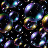 Nahtloser Hintergrund der Seifenluftblasen. Lizenzfreies Stockfoto
