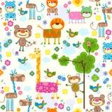 Nahtloser Hintergrund der Tiere Stockbilder