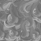 Nahtloser Hintergrund der Vektorillustration von Haar scrollwork Lizenzfreies Stockfoto