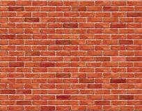 Nahtloser Hintergrund der Wand des roten Backsteins - Beschaffenheit lizenzfreie abbildung