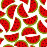 Nahtloser Hintergrund der Wassermelone stock abbildung