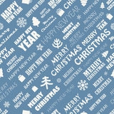 Nahtloser Hintergrund der Weihnachtsjahreszeit-Elemente Stockfotografie