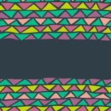 Nahtloser Hintergrund des abstrakten Dreiecks Lizenzfreie Stockfotografie