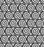 Nahtloser Hintergrund des abstrakten gewundenen Vektors. Lizenzfreies Stockbild