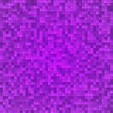 Nahtloser Hintergrund des abstrakten violetten Pixelmosaiks Stockfotografie
