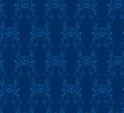 Nahtloser Hintergrund des blauen Victorian vektor abbildung