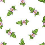 Nahtloser Hintergrund des Blumenvektors stock abbildung