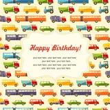 Nahtloser Hintergrund des bunten Babys Alles- Gute zum Geburtstaggrußkarte oder -einladung Lizenzfreies Stockfoto