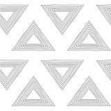 Nahtloser Hintergrund des Dreiecks Lizenzfreies Stockbild