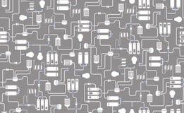 Nahtloser Hintergrund des elektrischen Entwurfs Stockfotos