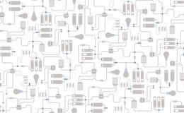 Nahtloser Hintergrund des elektrischen Entwurfs Stockbild