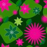 Nahtloser Hintergrund des fantastischen Scharlachrots Farbe auf dunkelgrünem vektor abbildung