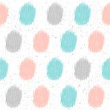 Nahtloser Hintergrund des Gekritzelelements Abstraktes kindisches Blau, grau Lizenzfreie Stockfotografie