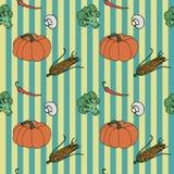 Nahtloser Hintergrund des Gemüses Lizenzfreies Stockbild