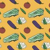 Nahtloser Hintergrund des Gemüses Lizenzfreies Stockfoto