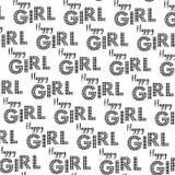 Nahtloser Hintergrund des glücklichen Mädchen-Musters Lizenzfreie Stockfotos