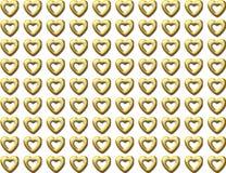 Nahtloser Hintergrund des goldenen Herzens Stock Abbildung