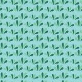 Nahtloser Hintergrund des grünen Grases Grünes mit Blumenmuster lizenzfreie abbildung