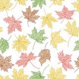 Nahtloser Hintergrund des Herbstes Stockbilder