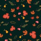 Nahtloser Hintergrund des Herbstes, Vektorillustration. Lizenzfreie Stockbilder