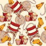 Nahtloser Hintergrund des Kinos Stockbilder