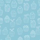 Nahtloser Hintergrund des kleinen Kuchens Lizenzfreies Stockfoto