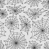 Nahtloser Hintergrund des Netzes der Spinne Verschiedene Varianten der Farbe sind möglich Stockfotografie