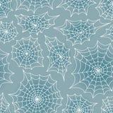 Nahtloser Hintergrund des Netzes der Spinne Verschiedene Varianten der Farbe sind möglich Lizenzfreies Stockbild