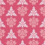 Nahtloser Hintergrund des rosa königlichen Frühlinges des Vektors Stockbild