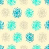 Nahtloser Hintergrund des Sommers mit Blumentupfen Stockfotos