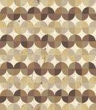 Nahtloser Hintergrund des strukturierten gewellten geometrischen Parketts der Weinlese Lizenzfreie Stockfotos