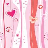 Nahtloser Hintergrund des Valentinsgrußes Lizenzfreie Stockbilder