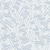 Nahtloser Hintergrund des weißen Alphabetpapiers Stockbilder