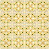 Nahtloser Hintergrund des Weinlesepfaufeder-Kaleidoskopmusters Stockfotos